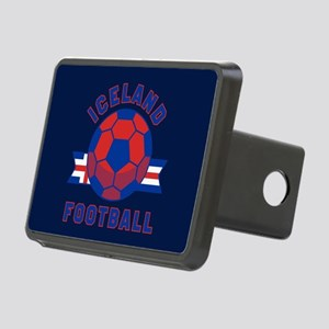 Iceland Football Rectangular Hitch Cover
