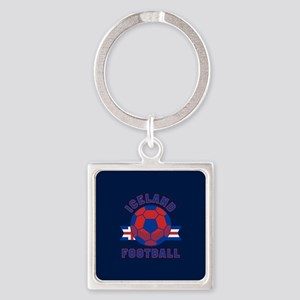 Iceland Football Square Keychain