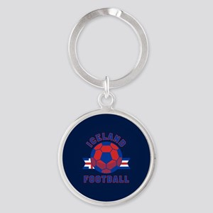 Iceland Football Round Keychain