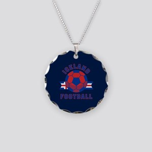 Iceland Football Necklace Circle Charm