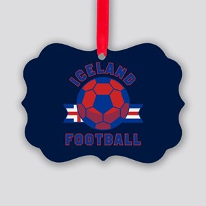 Iceland Football Picture Ornament
