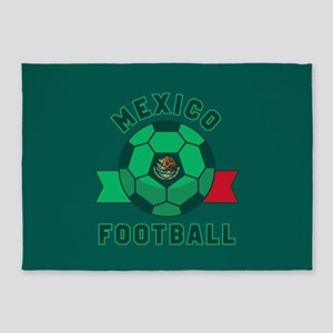 Mexico Football 5'x7'Area Rug