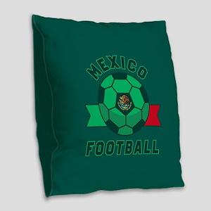 Mexico Football Burlap Throw Pillow