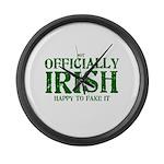 Officially Irish Large Wall Clock