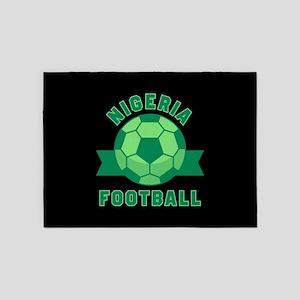 Nigeria Football 5'x7'Area Rug