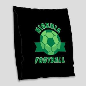 Nigeria Football Burlap Throw Pillow