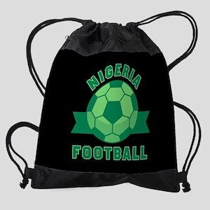Nigeria Football Drawstring Bag