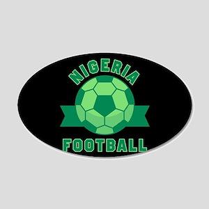 Nigeria Football 20x12 Oval Wall Decal