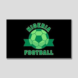 Nigeria Football Car Magnet 20 x 12