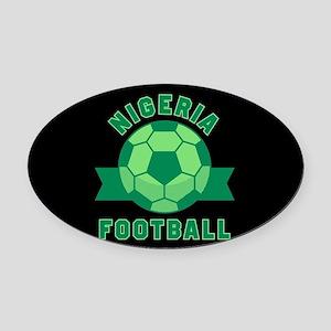 Nigeria Football Oval Car Magnet