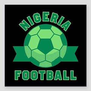 "Nigeria Football Square Car Magnet 3"" x 3"""