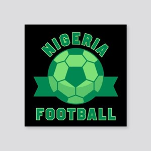 "Nigeria Football Square Sticker 3"" x 3"""