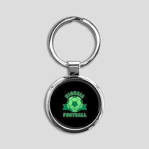 Nigeria Football Round Keychain