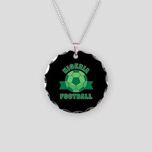 Nigeria Football Necklace Circle Charm