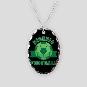 Nigeria Football Necklace Oval Charm