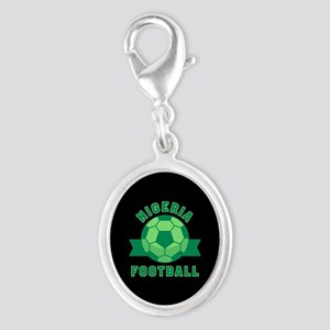 Nigeria Football Silver Oval Charm