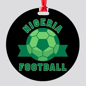 Nigeria Football Round Ornament