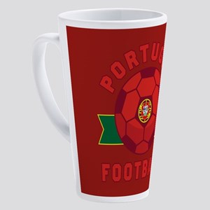 Portugal Football 17 oz Latte Mug