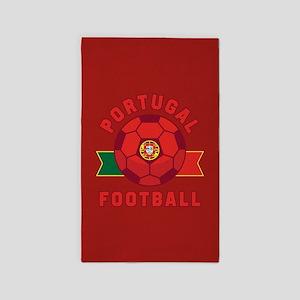 Portugal Football Area Rug