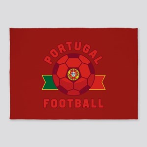 Portugal Football 5'x7'Area Rug