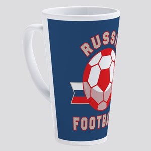 Russia Football 17 oz Latte Mug