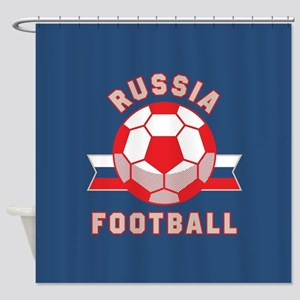 Russia Football Shower Curtain
