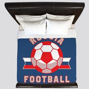 Russia Football King Duvet