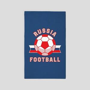 Russia Football Area Rug