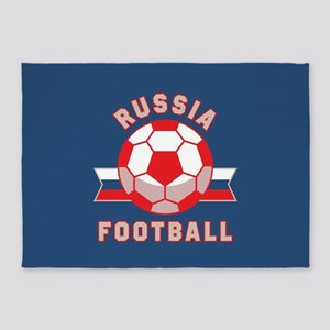 Russia Football 5'x7'Area Rug