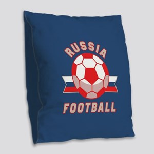 Russia Football Burlap Throw Pillow