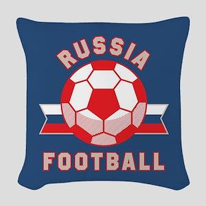 Russia Football Woven Throw Pillow