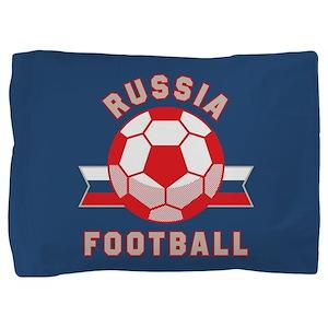 Russia Football Pillow Sham