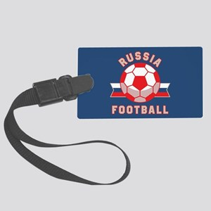 Russia Football Large Luggage Tag