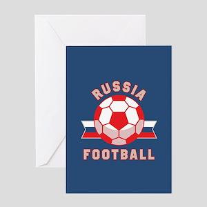 Russia Football Greeting Card