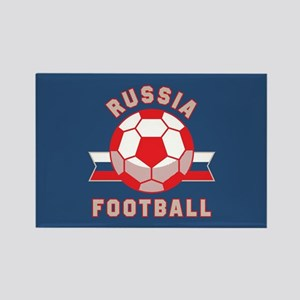 Russia Football Rectangle Magnet
