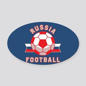 Russia Football Oval Car Magnet