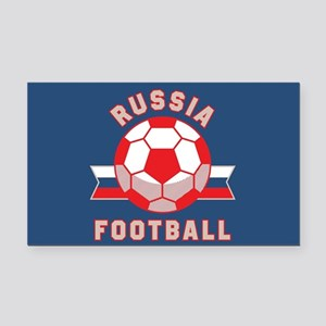 Russia Football Rectangle Car Magnet
