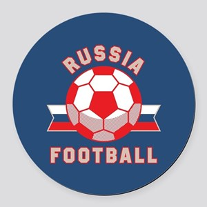 Russia Football Round Car Magnet