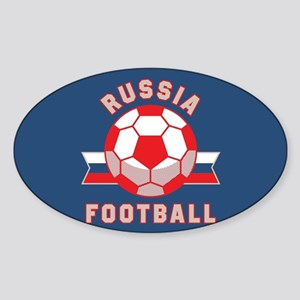 Russia Football Sticker (Oval)