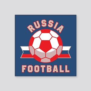 """Russia Football Square Sticker 3"""" x 3"""""""