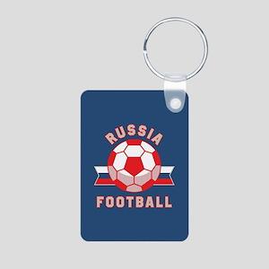 Russia Football Aluminum Photo Keychain