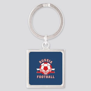 Russia Football Square Keychain