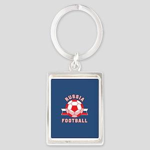 Russia Football Portrait Keychain