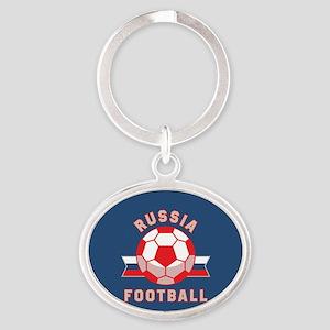Russia Football Oval Keychain