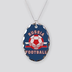 Russia Football Necklace Oval Charm