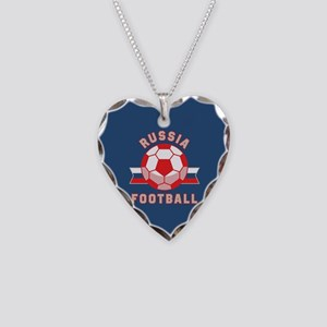 Russia Football Necklace Heart Charm