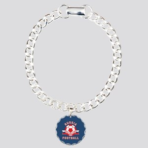 Russia Football Charm Bracelet, One Charm