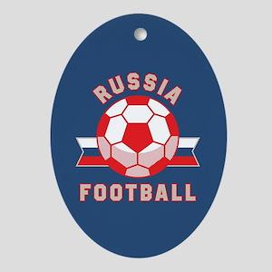Russia Football Oval Ornament