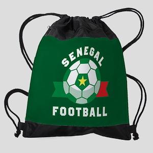 Senegal Football Drawstring Bag