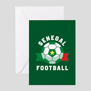 Senegal Football Greeting Card